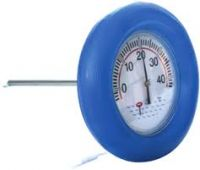 Floating circular thermometer