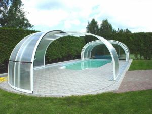 Polycarbonate sliding sheds