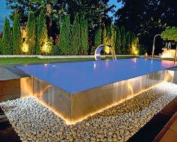 Metal panel swimming pools